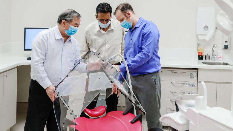 新研究人员开发出防止新冠病毒感染的帐篷式牙科治疗技术